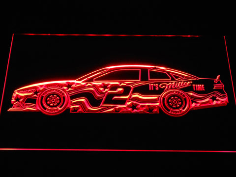 Brad Keselowski Race Car LED Neon Sign - Red - SafeSpecial