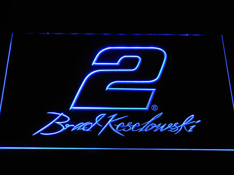 Image of Brad Keselowski Signature 2 LED Neon Sign - Blue - SafeSpecial