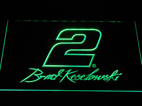 Image of Brad Keselowski Signature 2 LED Neon Sign - Green - SafeSpecial