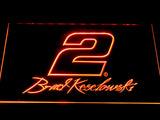 Brad Keselowski Signature 2 LED Neon Sign - Orange - SafeSpecial