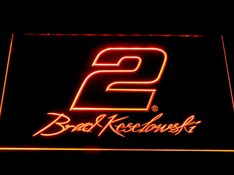 Image of Brad Keselowski Signature 2 LED Neon Sign - Orange - SafeSpecial