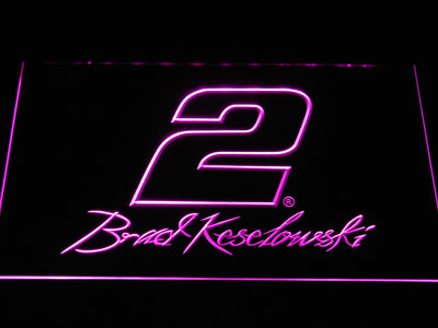 Brad Keselowski Signature 2 LED Neon Sign - Purple - SafeSpecial