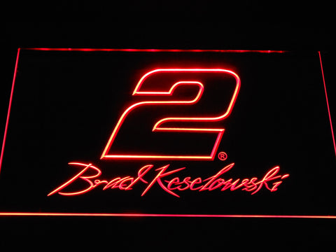 Image of Brad Keselowski Signature 2 LED Neon Sign - Red - SafeSpecial