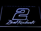 Brad Keselowski Signature 2 LED Neon Sign - White - SafeSpecial
