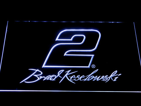 Image of Brad Keselowski Signature 2 LED Neon Sign - White - SafeSpecial