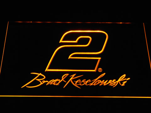 Image of Brad Keselowski Signature 2 LED Neon Sign - Yellow - SafeSpecial