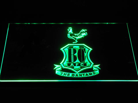 Bradford City AFC Crest 2 LED Neon Sign - Green - SafeSpecial