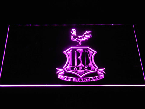 Bradford City AFC Crest 2 LED Neon Sign - Purple - SafeSpecial