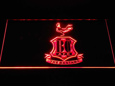 Bradford City AFC Crest 2 LED Neon Sign - Red - SafeSpecial