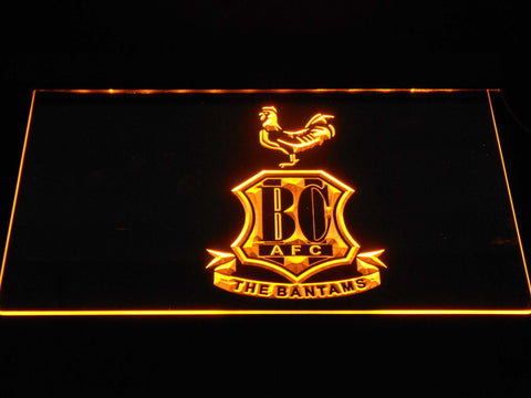 Bradford City AFC Crest 2 LED Neon Sign - Yellow - SafeSpecial
