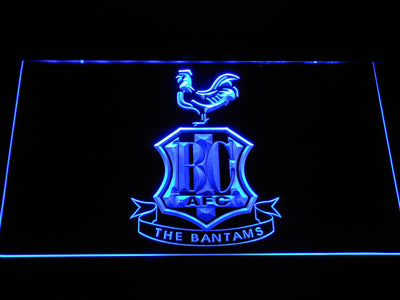 Bradford City AFC Crest LED Neon Sign - Blue - SafeSpecial