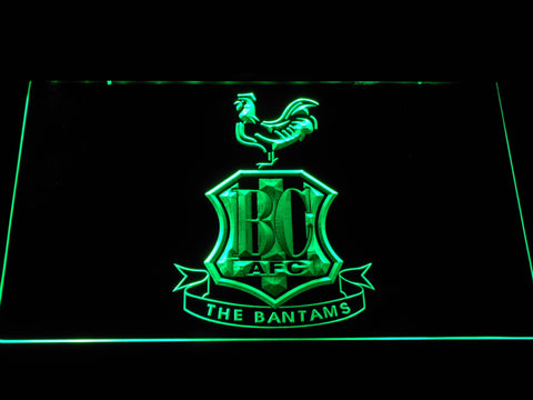 Image of Bradford City AFC Crest LED Neon Sign - Green - SafeSpecial