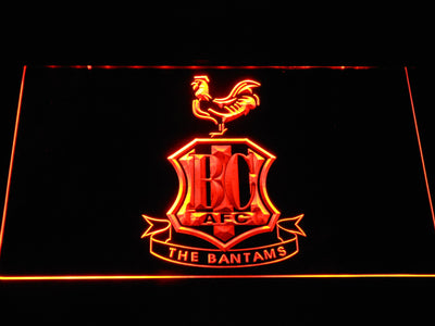 Bradford City AFC Crest LED Neon Sign - Orange - SafeSpecial