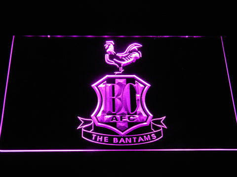 Image of Bradford City AFC Crest LED Neon Sign - Purple - SafeSpecial