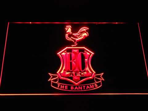 Image of Bradford City AFC Crest LED Neon Sign - Red - SafeSpecial