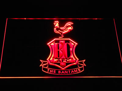 Bradford City AFC Crest LED Neon Sign - Red - SafeSpecial