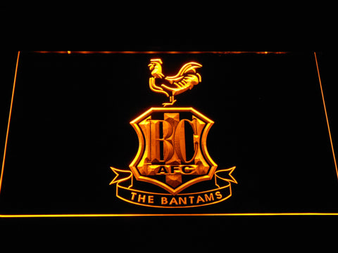 Image of Bradford City AFC Crest LED Neon Sign - Yellow - SafeSpecial
