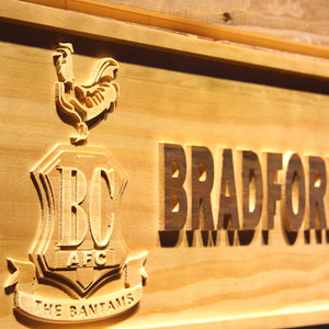 Bradford City AFC Crest Wooden Sign - - SafeSpecial