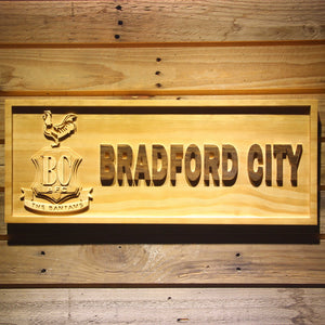Bradford City AFC Crest Wooden Sign - Small - SafeSpecial