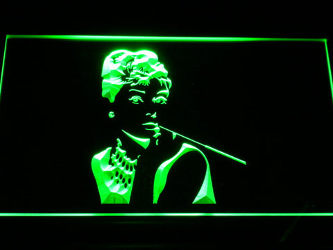 Image of Breakfast at Tiffany's Holly Golightly LED Neon Sign - Green - SafeSpecial