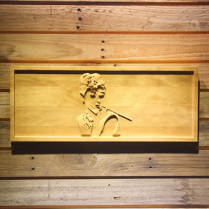 Breakfast at Tiffany's Holly Golightly Wooden Sign - Small - SafeSpecial