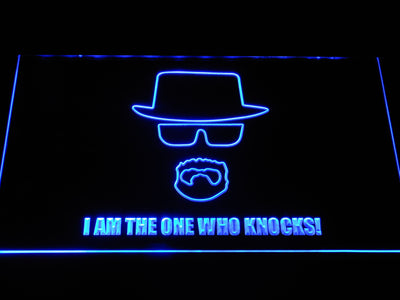 Breaking Bad Bryan Cranston Knocks LED Neon Sign - Blue - SafeSpecial