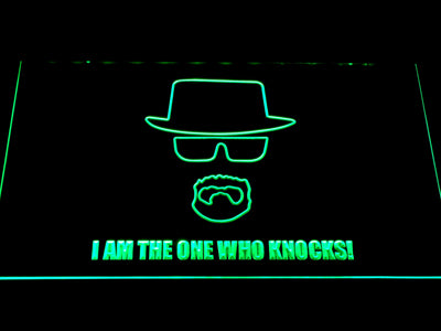 Breaking Bad Bryan Cranston Knocks LED Neon Sign - Green - SafeSpecial