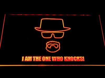 Breaking Bad Bryan Cranston Knocks LED Neon Sign - Orange - SafeSpecial