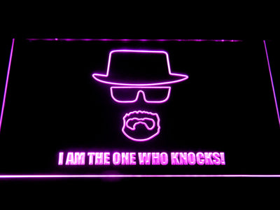 Breaking Bad Bryan Cranston Knocks LED Neon Sign - Purple - SafeSpecial