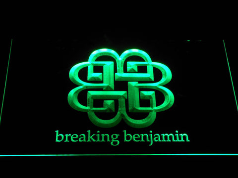Breaking Benjamin LED Neon Sign - Green - SafeSpecial
