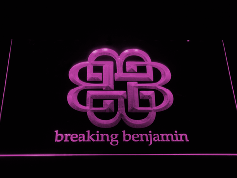 Breaking Benjamin LED Neon Sign - Purple - SafeSpecial