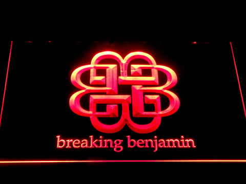 Breaking Benjamin LED Neon Sign - Red - SafeSpecial
