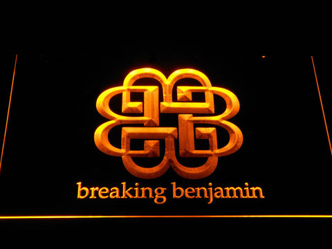 Breaking Benjamin LED Neon Sign - Yellow - SafeSpecial