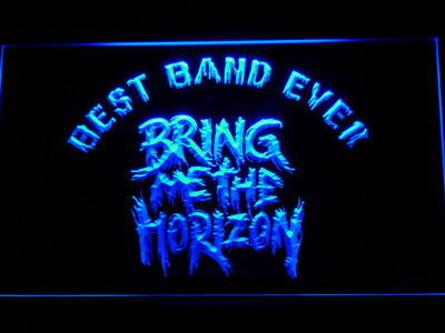 Bring Me The Horizon Best Band Ever LED Neon Sign - Blue - SafeSpecial