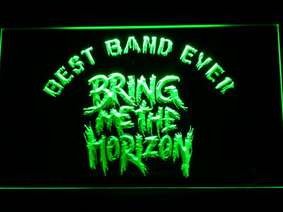 Bring Me The Horizon Best Band Ever LED Neon Sign - Green - SafeSpecial