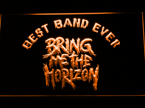 Image of Bring Me The Horizon Best Band Ever LED Neon Sign - Orange - SafeSpecial