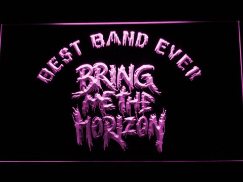 Image of Bring Me The Horizon Best Band Ever LED Neon Sign - Purple - SafeSpecial