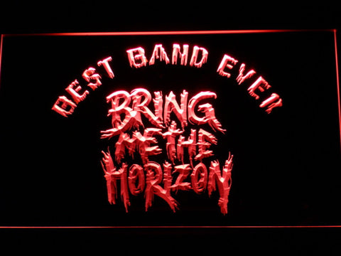 Image of Bring Me The Horizon Best Band Ever LED Neon Sign - Red - SafeSpecial