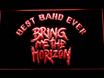 Bring Me The Horizon Best Band Ever LED Neon Sign - Red - SafeSpecial