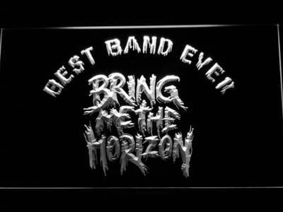 Bring Me The Horizon Best Band Ever LED Neon Sign - White - SafeSpecial