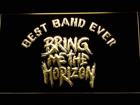Image of Bring Me The Horizon Best Band Ever LED Neon Sign - Yellow - SafeSpecial