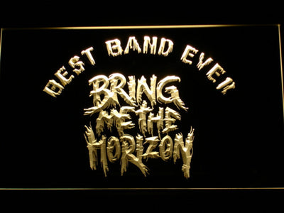 Bring Me The Horizon Best Band Ever LED Neon Sign - Yellow - SafeSpecial