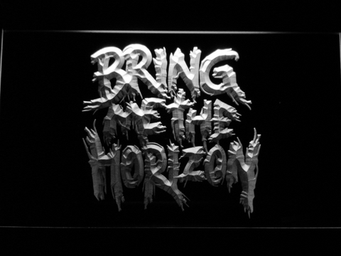 Bring Me The Horizon LED Neon Sign - White - SafeSpecial