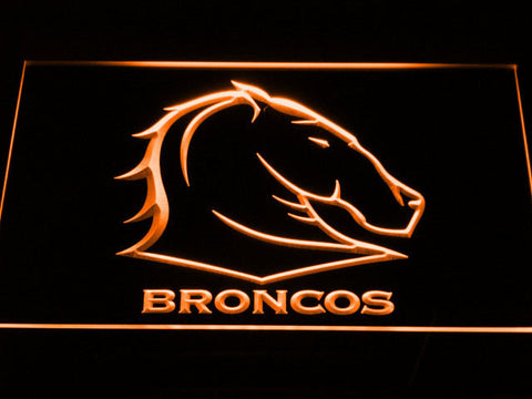 Brisbane Broncos LED Neon Sign - Orange - SafeSpecial
