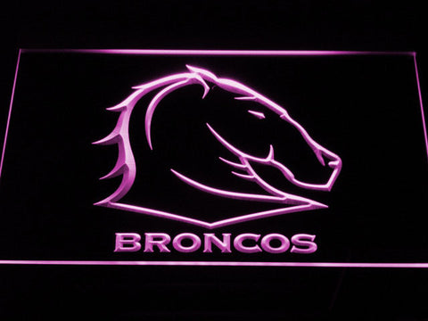 Brisbane Broncos LED Neon Sign - Purple - SafeSpecial