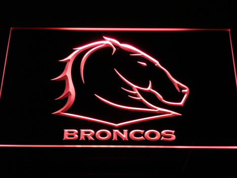Image of Brisbane Broncos LED Neon Sign - Red - SafeSpecial