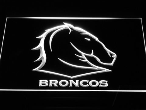 Image of Brisbane Broncos LED Neon Sign - White - SafeSpecial