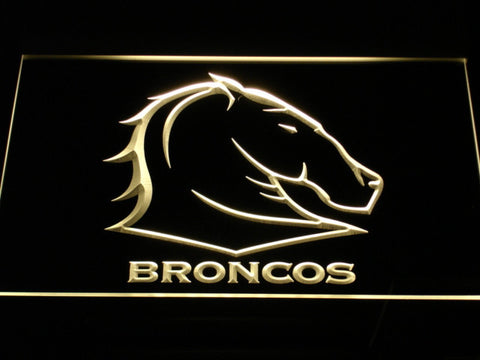 Image of Brisbane Broncos LED Neon Sign - Yellow - SafeSpecial