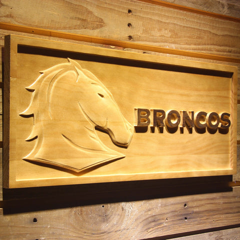 Brisbane Broncos Wooden Sign - - SafeSpecial