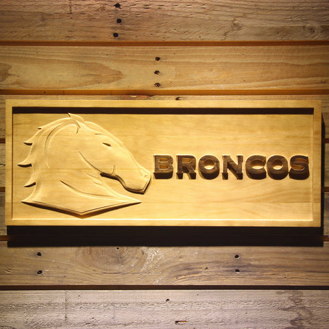 Image of Brisbane Broncos Wooden Sign - Small - SafeSpecial